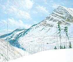 #1344 ~ Voyer - Untitled - Ski Country