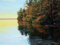 #1294 ~ Thomas - Untitled - Sunset on the Lake