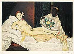 #282 ~ Villon - Olympia [After Manet]  #82/100
