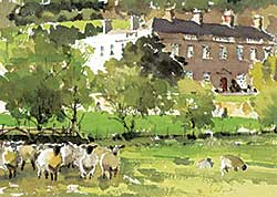#1298 ~ Yardley - Untitled - Sheep in the Field