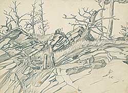 #1325 ~ Robinson - Untitled - Hillside Trees