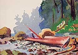 #1404 ~ Thornton - Untitled - Log on the Beach