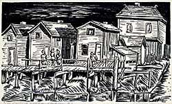 #1278 ~ Robinson - Fishing Village, Steveston, B.C.  #8/50