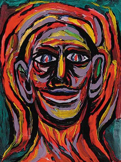 #17 ~ Aller - Untitled - Portrait of Man in Vivid Colour II
