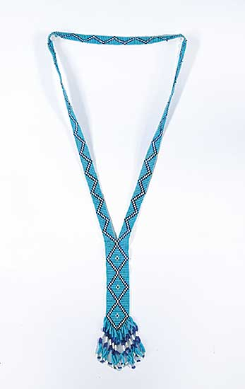#43 ~ Aller - Untitled - Blue and White Beaded Necklace