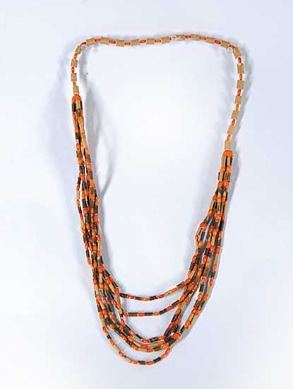 #47 ~ Aller - Untitled - Red Willow Necklace with Orange Beads