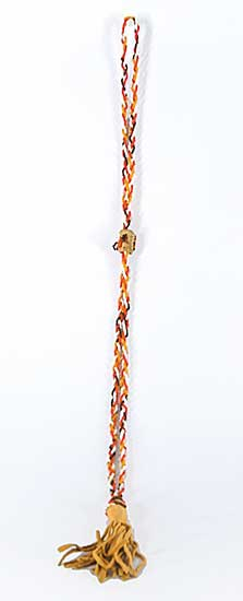 #50 ~ Aller - Untitled - Beaded Braid Necklace with Leather Tassel