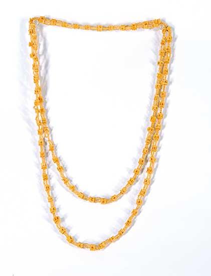 #53 ~ Aller - Untitled - Fish Vertebra Necklace (Ontario Cree)