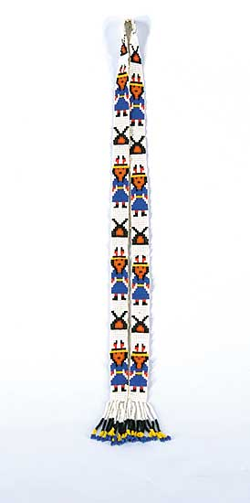 #56 ~ Aller - Untitled - Loom Beaded Necklace with Figures (Ontario Cree)