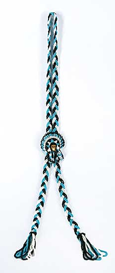 #64 ~ Aller - Untitled - Braided Bead Bolo Tie Necklace
