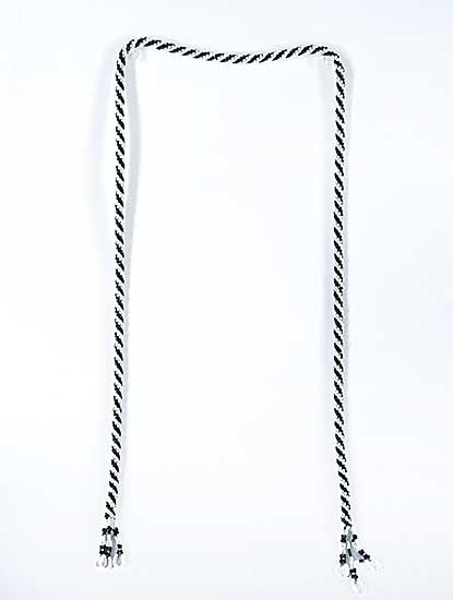 #72 ~ Aller - Untitled - Black and White Rope Necklace [No Bolo]