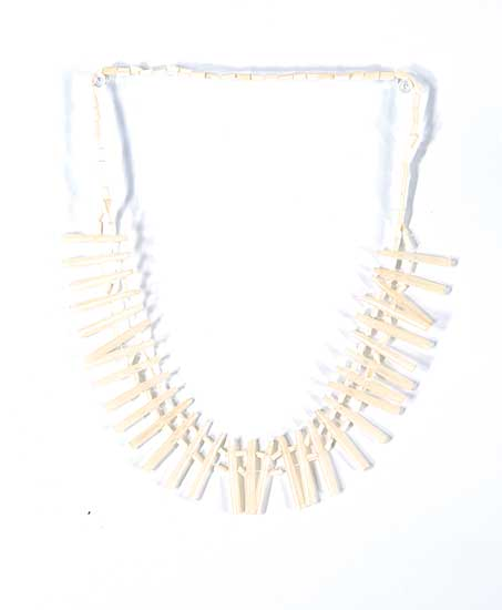 #74 ~ Aller - Untitled - White Bird Quill Necklace
