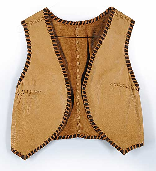 #87 ~ Aller - Untitled - Womans Reversable Moose Hide Vest
