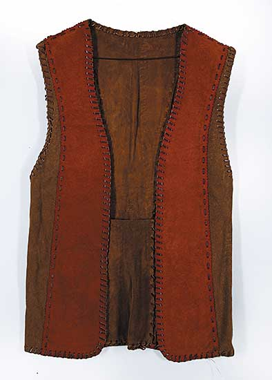 #88 ~ Aller - Untitled - Two Tone Leather Vest