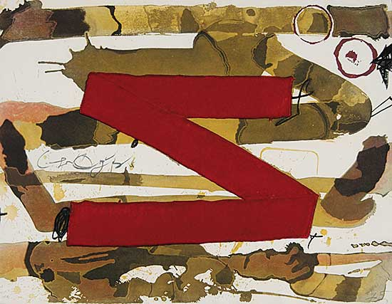 #329 ~ Tapies - Untitled - Z  #H.C.