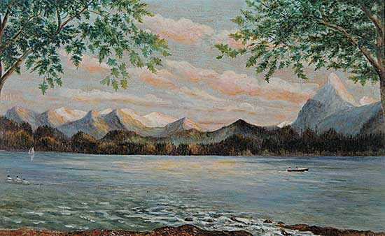 #491 ~ Everall - Untitled - Canoe Excursion