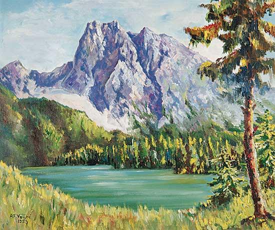 #766 ~ Vallee - Mount Burgess, Emerald Lake B.C.
