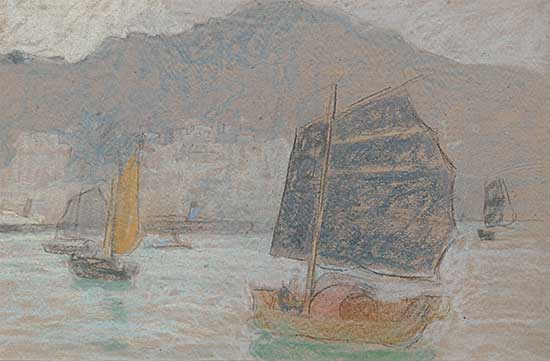 #662 ~ Eastlake - Untitled - Boats in the Harbour