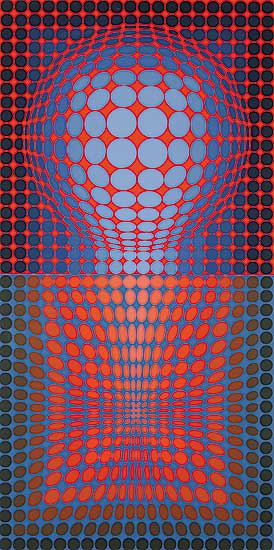 #903 ~ Vasarely - Untitled Vega  #E.A.