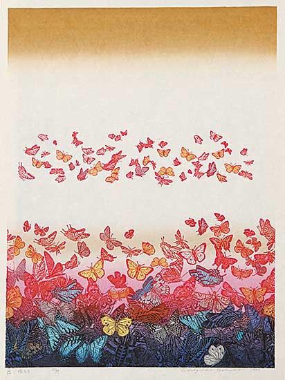 #860 ~ Yoshido - Untitled - Butterflys  #23/99