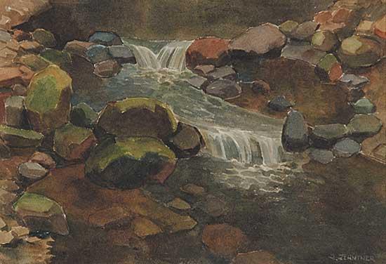 #866 ~ Zehntner - Untitled - Gentle Waterfalls