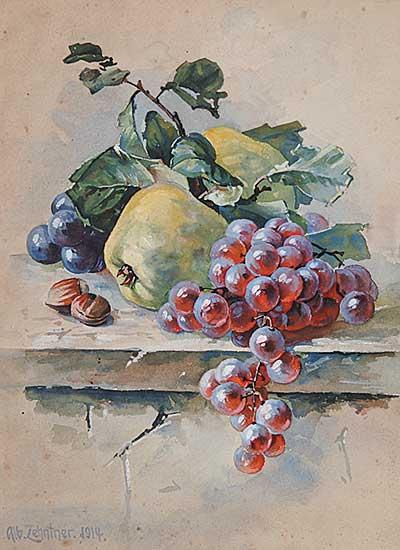 #868 ~ Zehntner - Untitled - Apples and Grapes