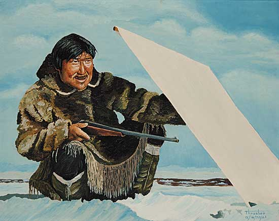#132 ~ Thrasher - Untitled - Inuit Hunter at the Blind