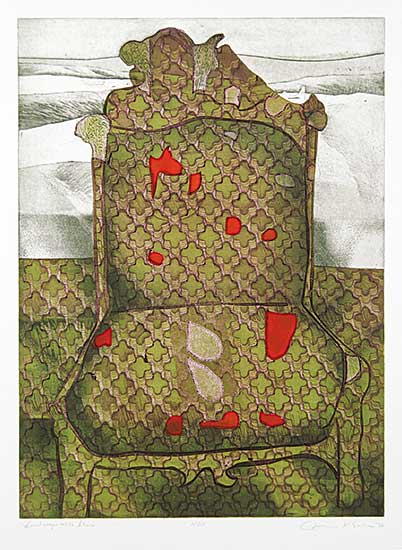 #678 ~ Esler - Landscape with Chair  #15/50
