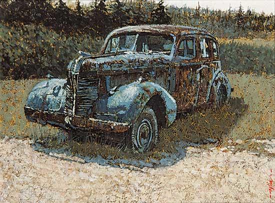 #941 ~ Wylie - Untitled - Vintage Blue