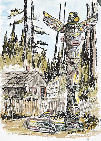 #88 ~ Weatherby - Untitled - West Coast Totem