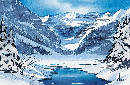 #371 ~ Olinger - Untitled - Lake Louise in Winter