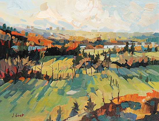 #478 ~ Vest - Estn River Valley Scene - Sept.