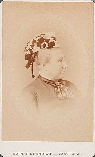 #357 ~ Notman and Sandham - Untitled - Portrait of a Lady with an Elegant Hat