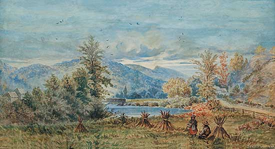 #104 ~ Verner - Mic Mac Harvest Quebec, 1878