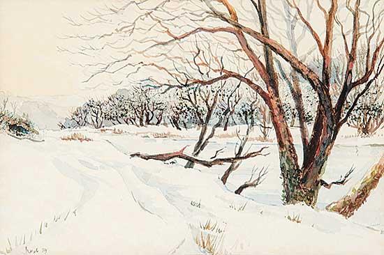 #734 ~ Vest - Untitled - Winter Road