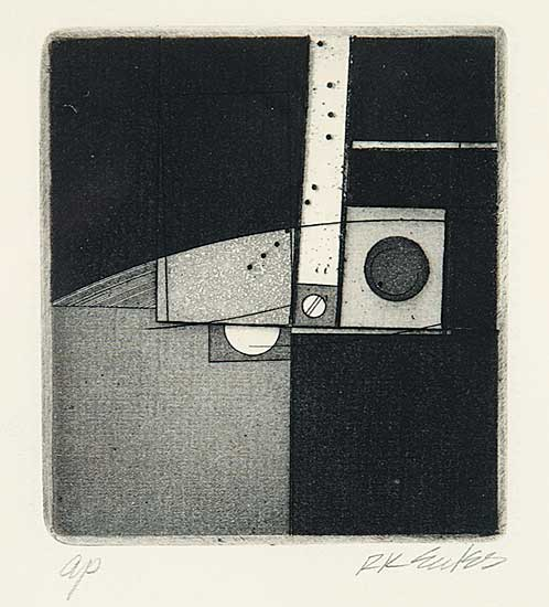 #28 ~ Eccles - Untitled - Abstract Squares and Circle  #AP