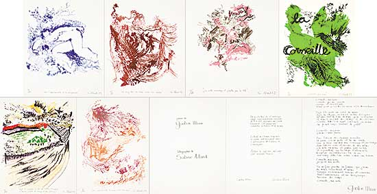 #4 ~ Allard - Untitled - Portfolio of Poem and Lithographs  #14/25