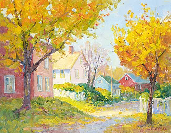 #468 ~ Noreau - Autumn in the Lane