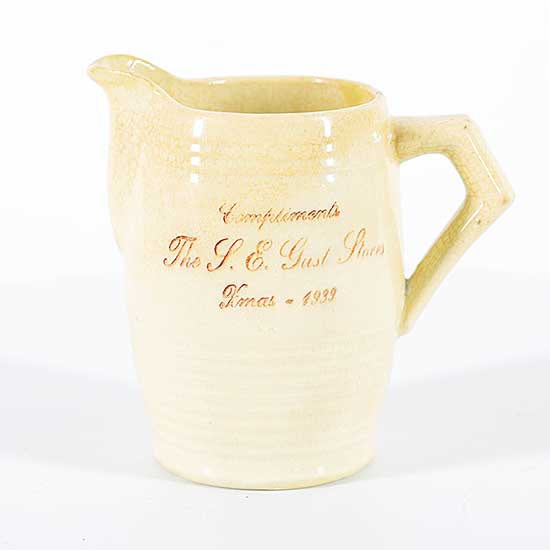 #1637 ~ School - Untitled - Medalta Milk Jug