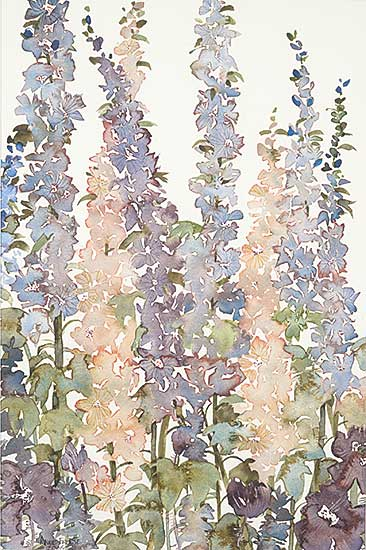 #1048 ~ Froese - Untitled - Delphiniums