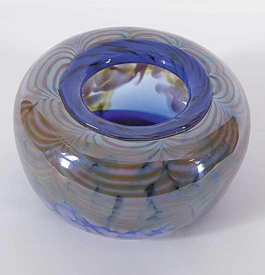 #1435 ~ James - Small Purple/Blue Floral Vase