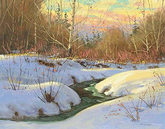 #438 ~ Gonsalves - Untitled - Sunset Winter Landscape