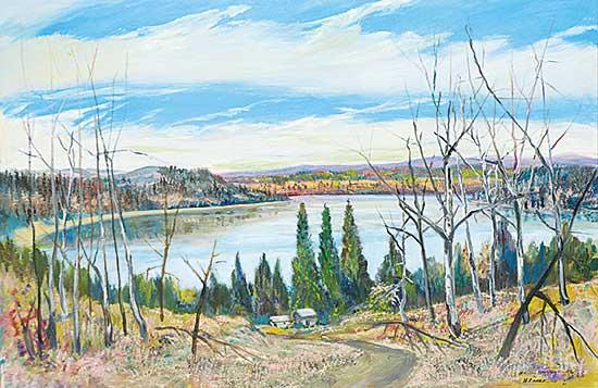 #1042 ~ Earle - Lake at Rocky Mountain House