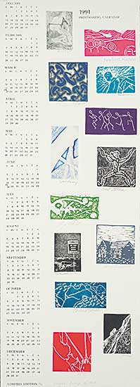 #1184 ~ School - 1991 Printmaking Calendar  #29/58