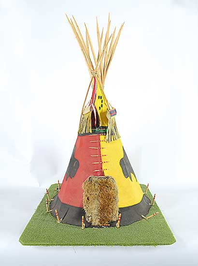 #6 ~ Chief Body - Untitled - Teepee with Buffalo Designs