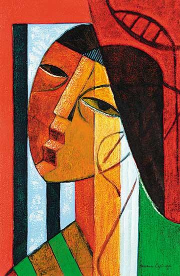 #417 ~ Espinoza - Face Composition III