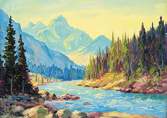 #420 ~ Fletcher - Untitled - River in the Rockies
