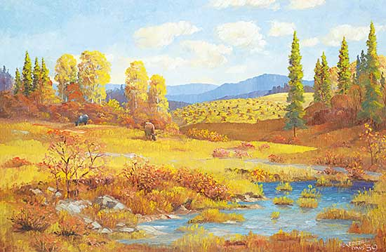 #1109 ~ Evans - Untitled - Fall Grazing