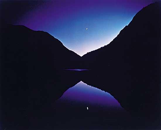 #1112 ~ Farb - Moon Rise at Lower Asable Lake