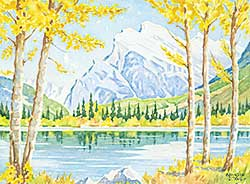 #1165 ~ Jones - Untitled - Mount Rundle in Fall